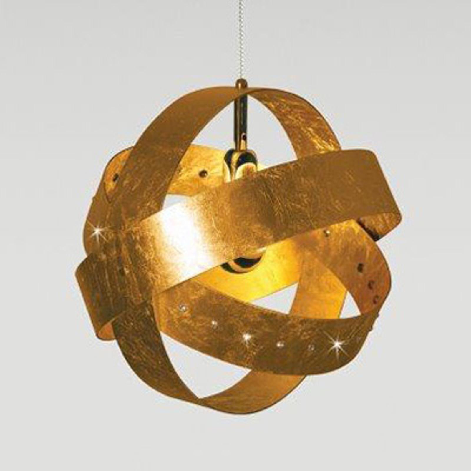 Złocona lampa wisząca Ecliptika 40 cm
