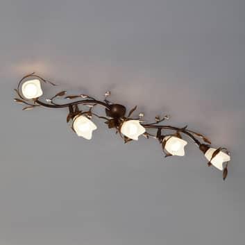 Campana loftlampe, 5 lyskilder, svunget