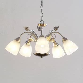Lindby Yannie LED-riippuvalaisin, 5-lamppuinen