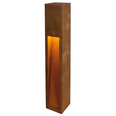 SLV Rusty Slot 80 LED-veilampe, høyde 80 cm