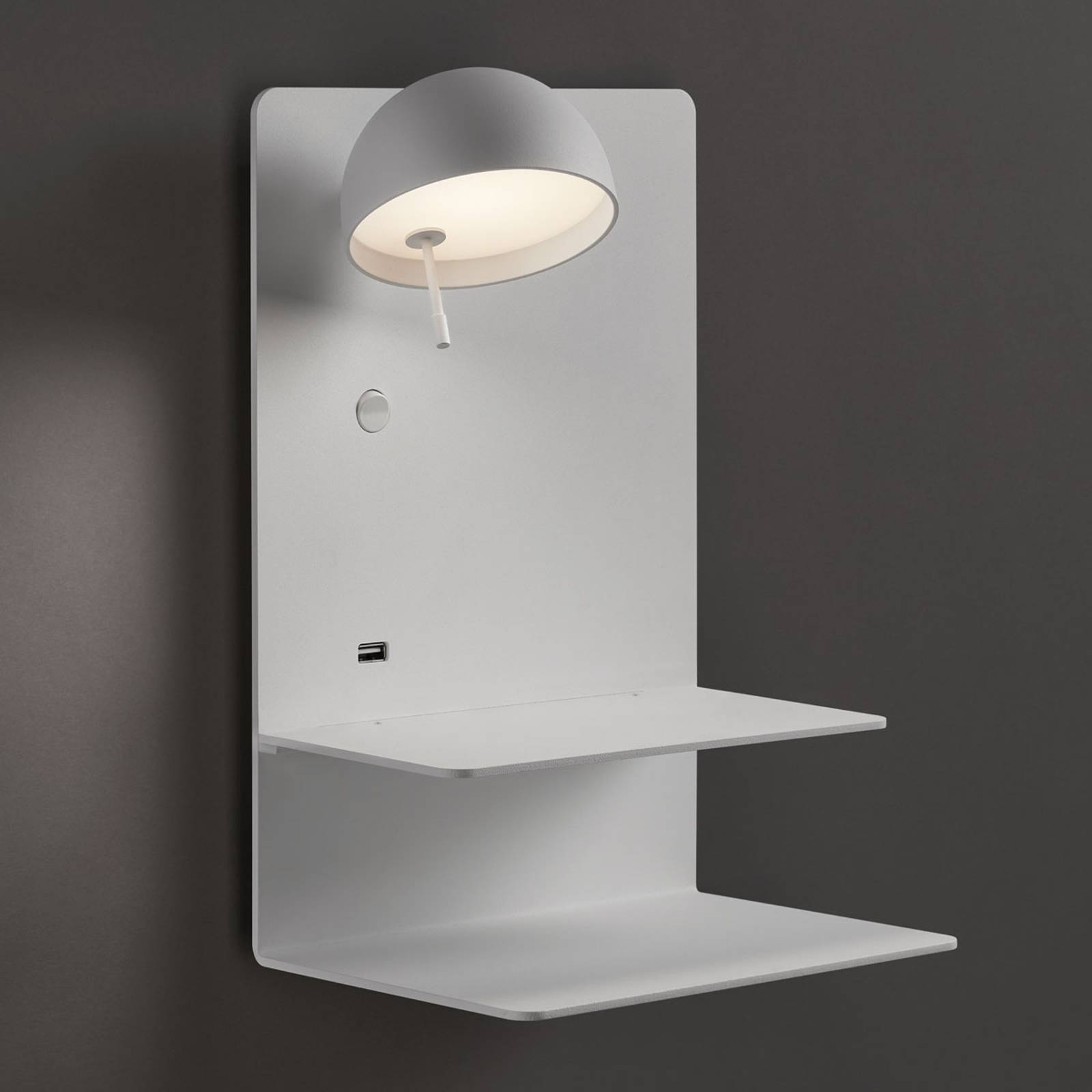 Bover Beddy A/04 LED wandlamp wit spot links