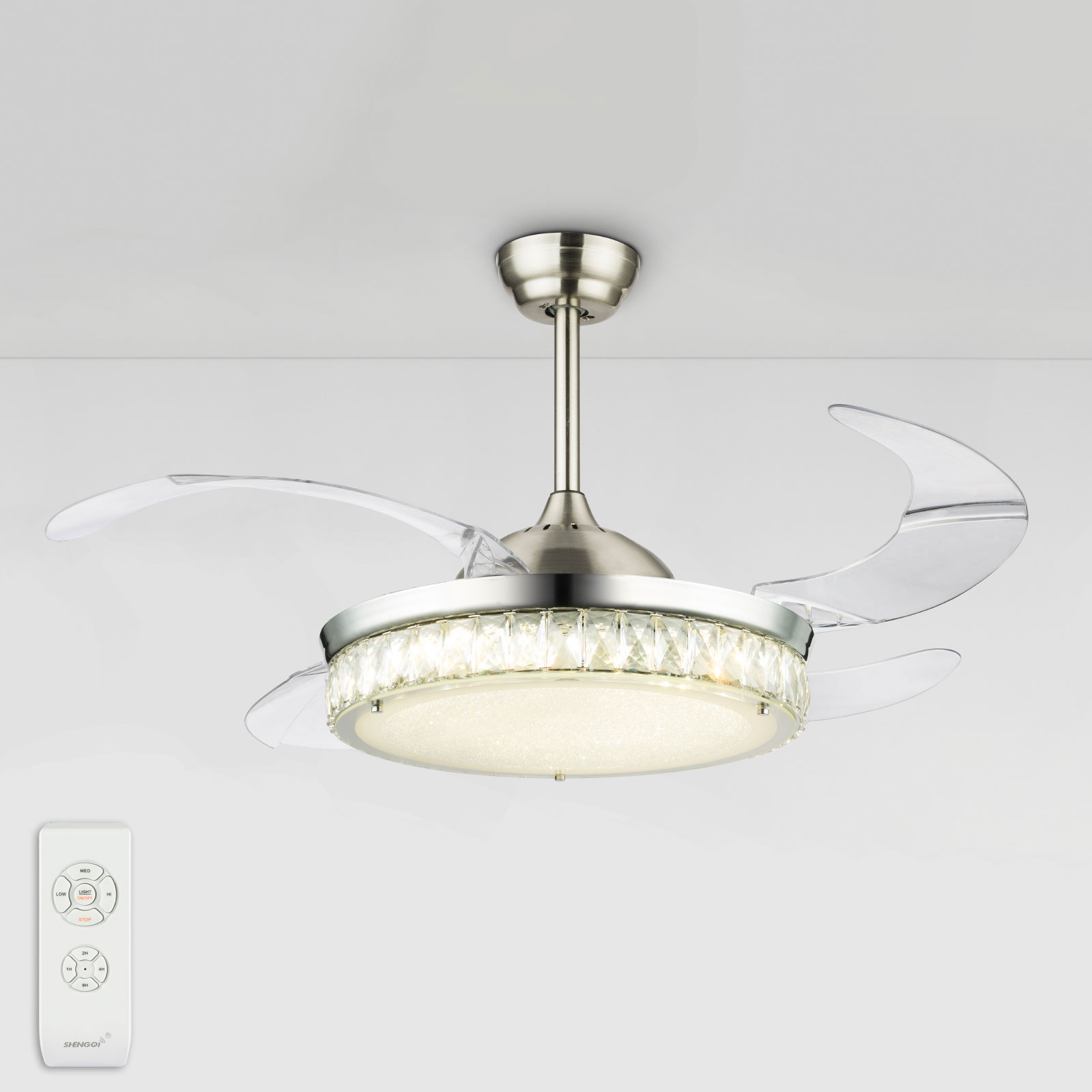 Cabrera LED-ventilator, flere lysfarver
