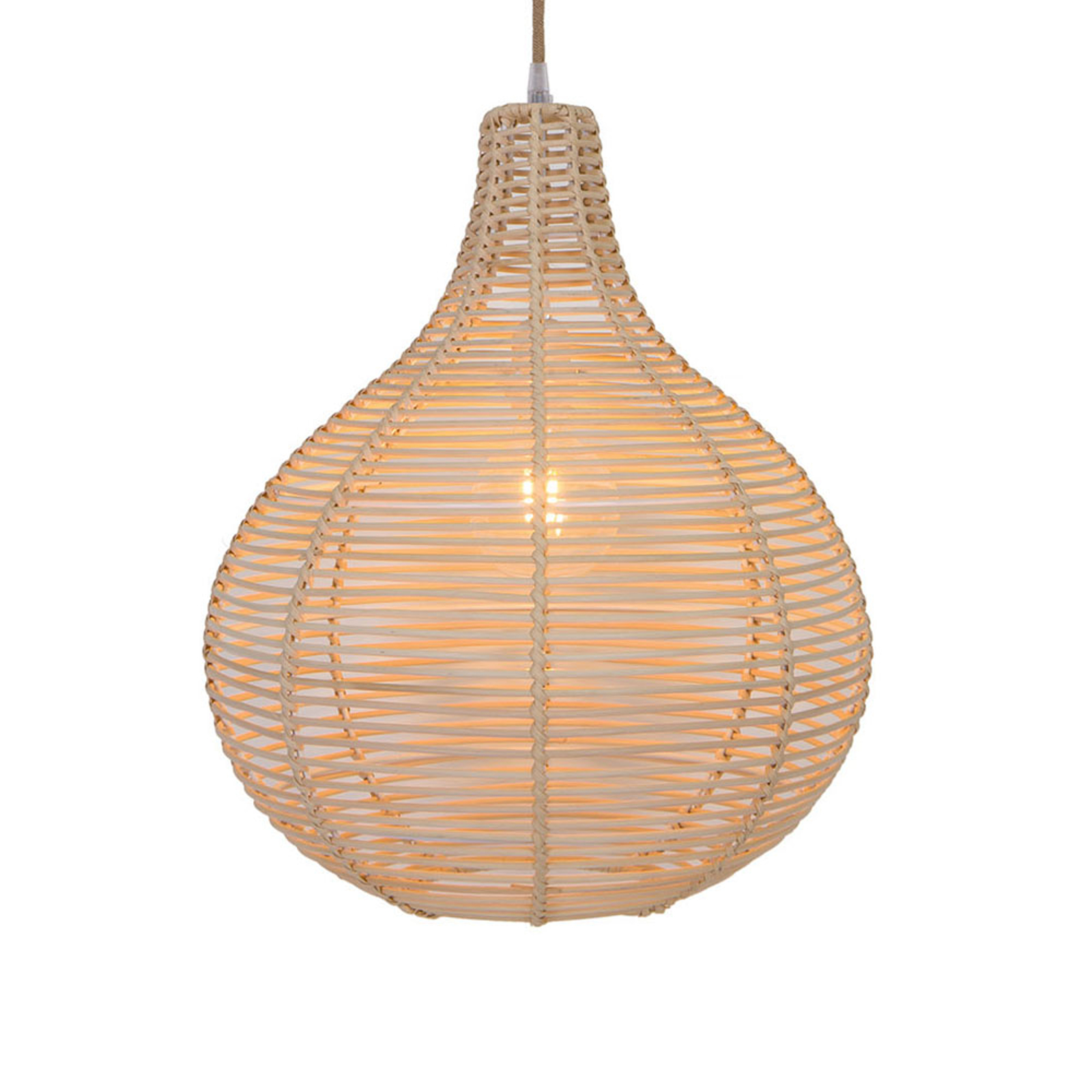 Hanglamp Bolita van hout, Ø 30 cm