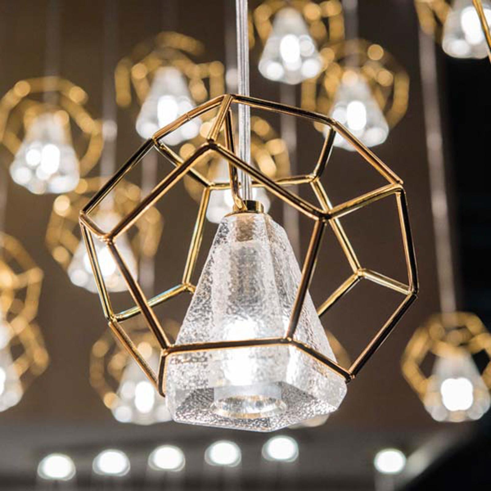 Incanto hængelampe, 24 kt guld, 1 lyskilde