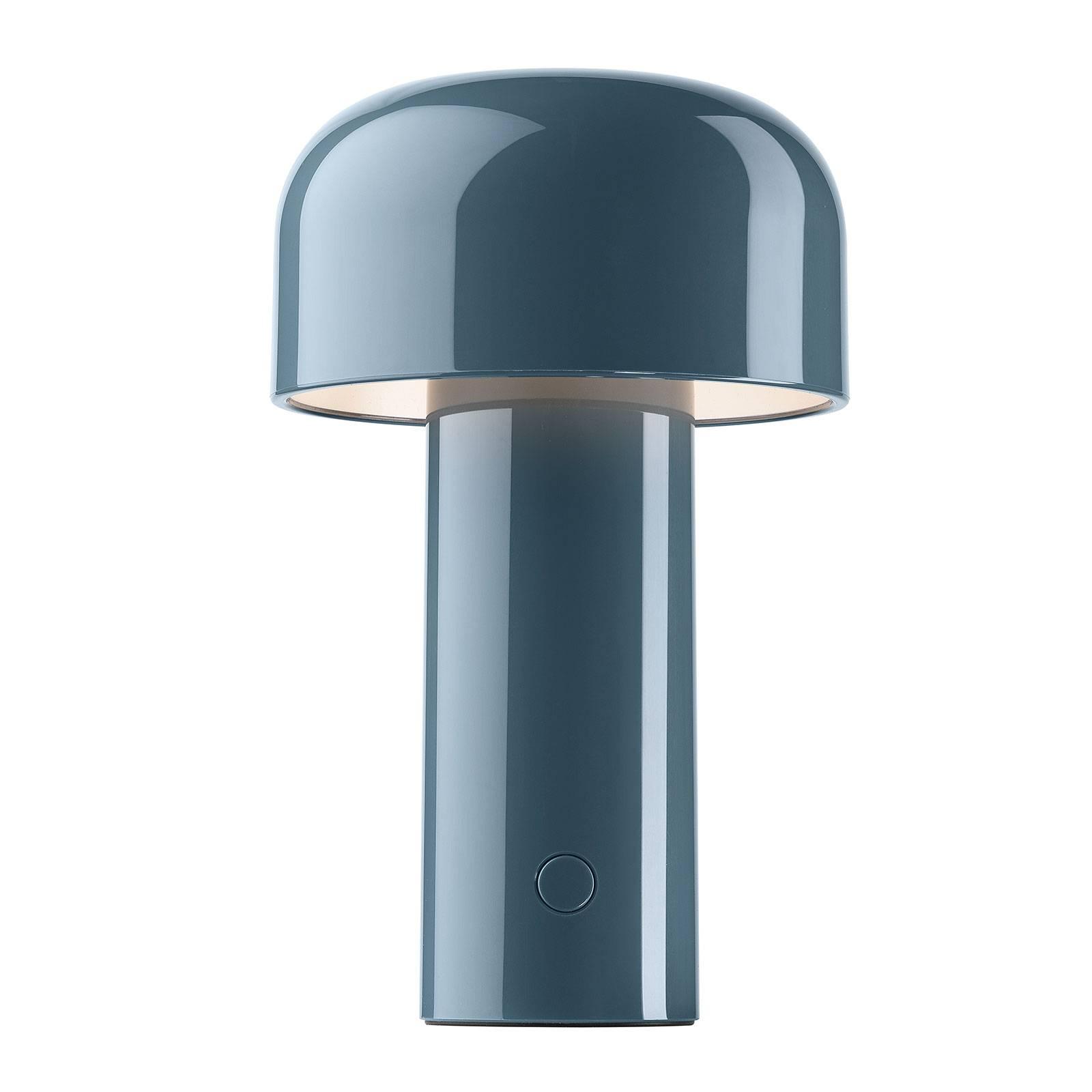 FLOS Bellhop aufladbare LED-Tischleuchte, graublau