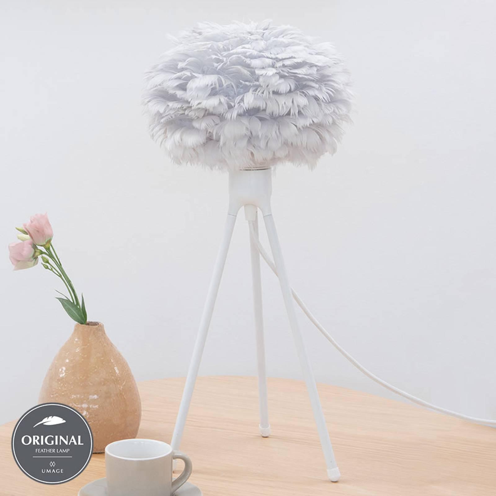 UMAGE Eos micro lampada da tavolo piume grigio
