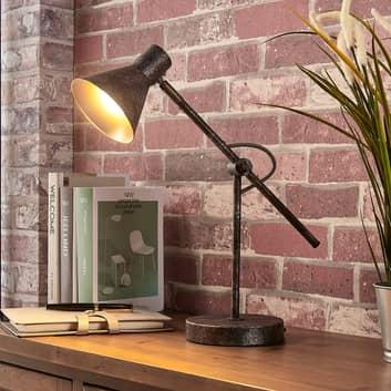 Rostfarbene LED-Tischlampe Zera, easydim