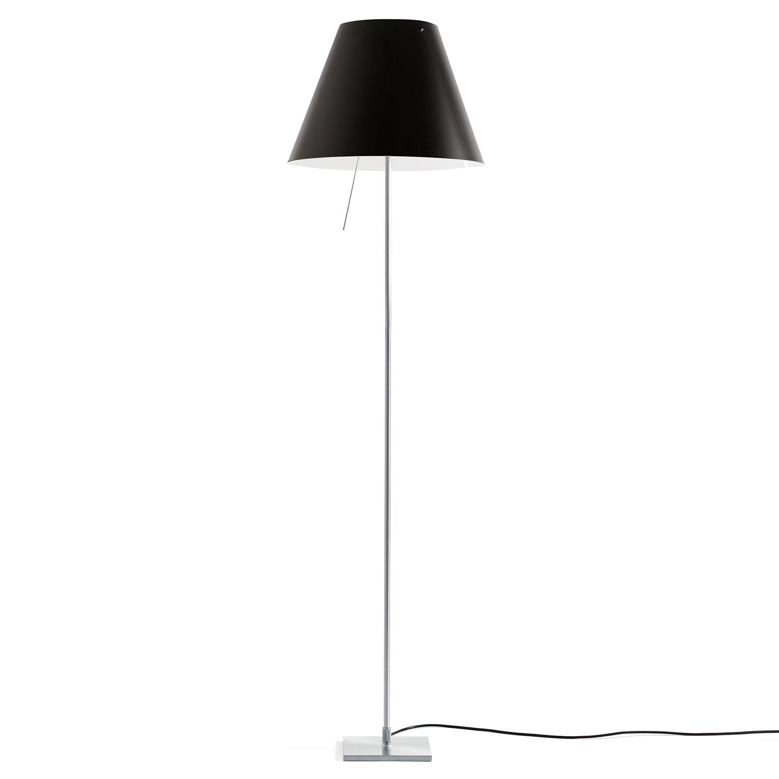 Luceplan Costanza da terra D13tif, alluminio/nero