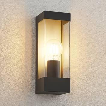 Lindby Tilian udendørs væglampe, kantet, E27