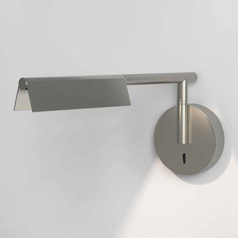 Astro Fold LED wandlamp met schakelaar, mat nikkel