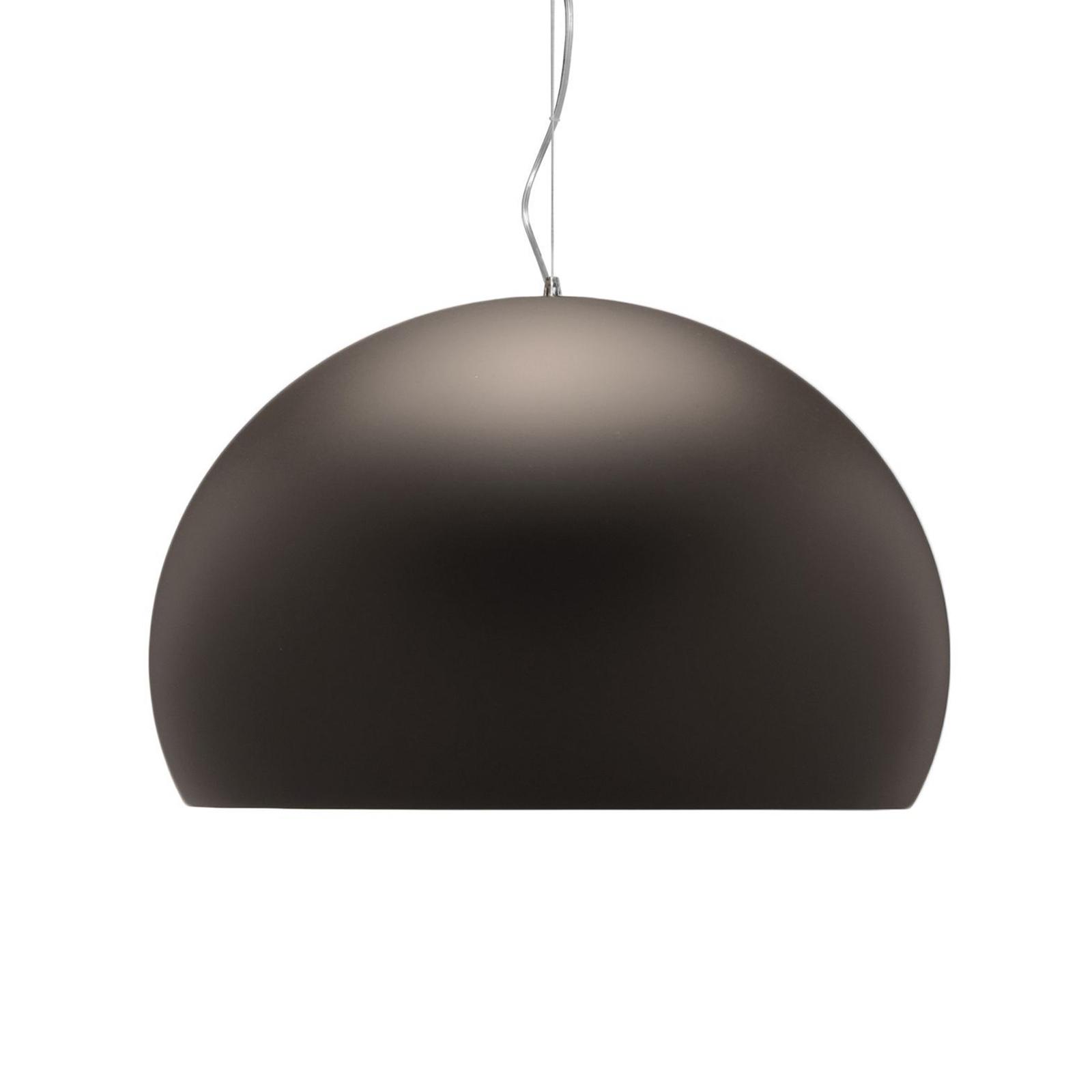 Kartell FL/Y - LED závěsné světlo, hnědá matná