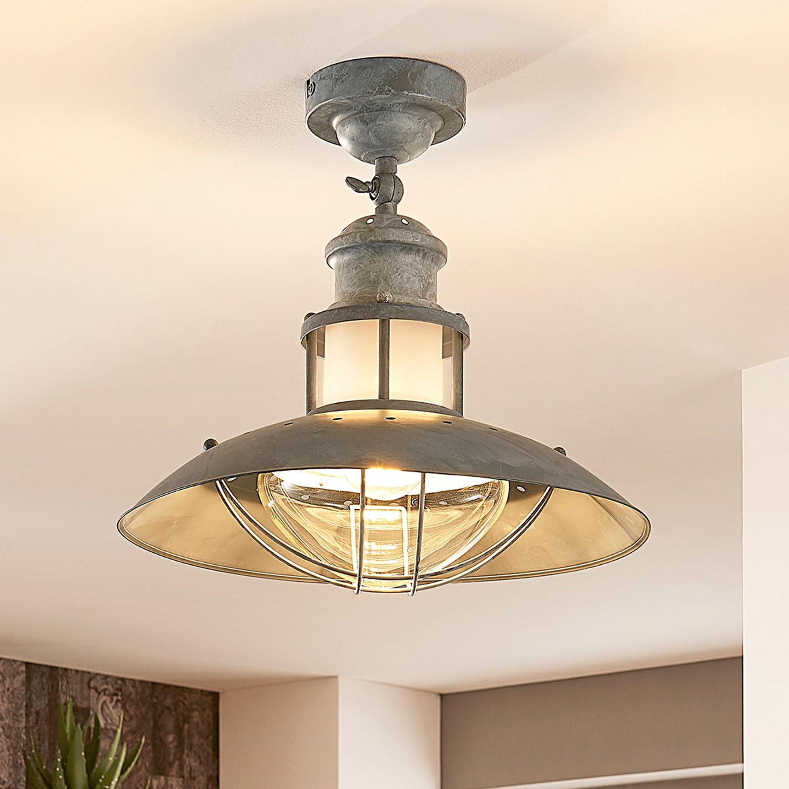 Betonově šedá lampa Louisanne, industriální