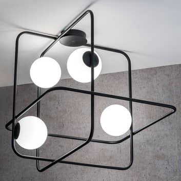 Taklampa Intrigo kvadratisk svart