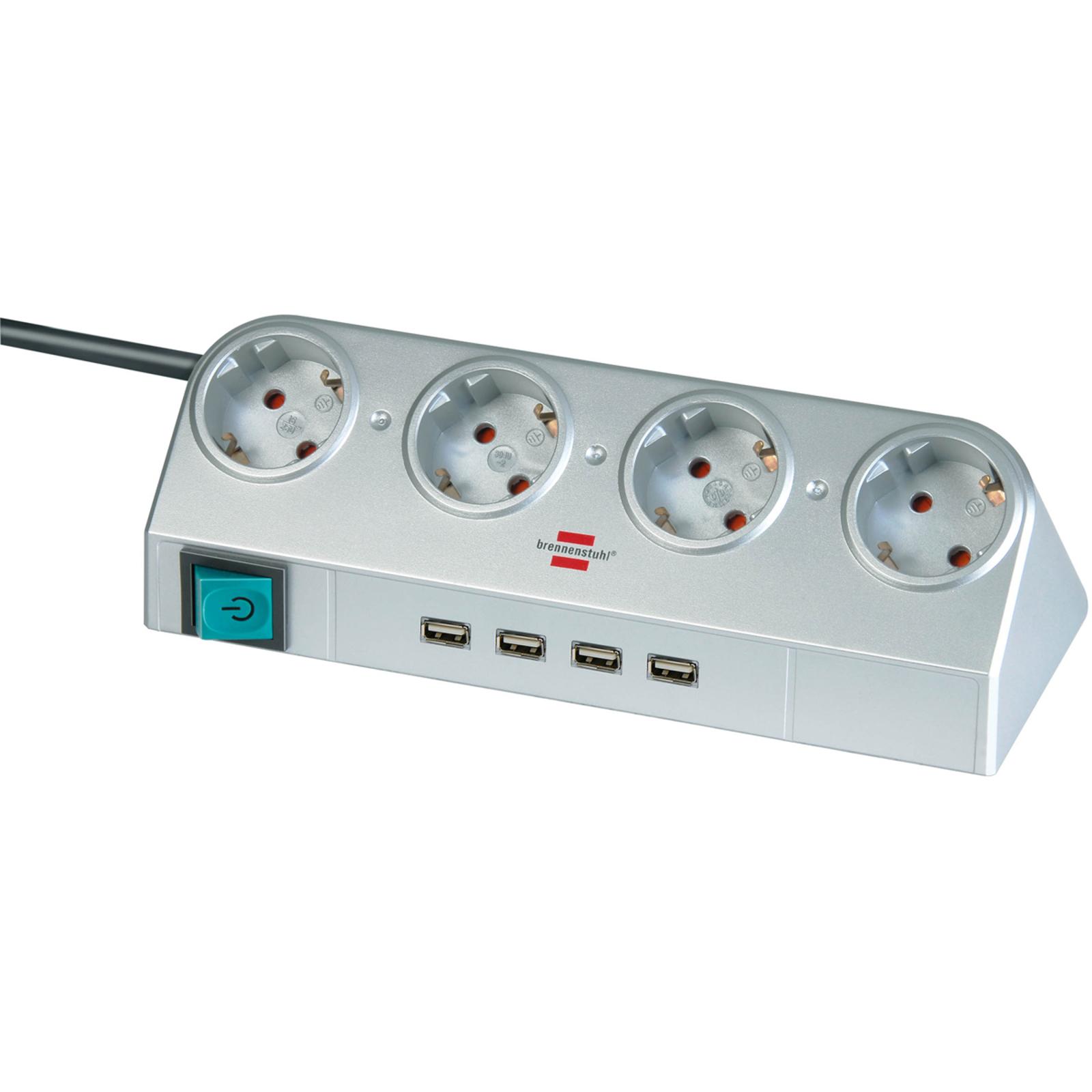 Desktop-Power stikdåseliste med afbryder & USB