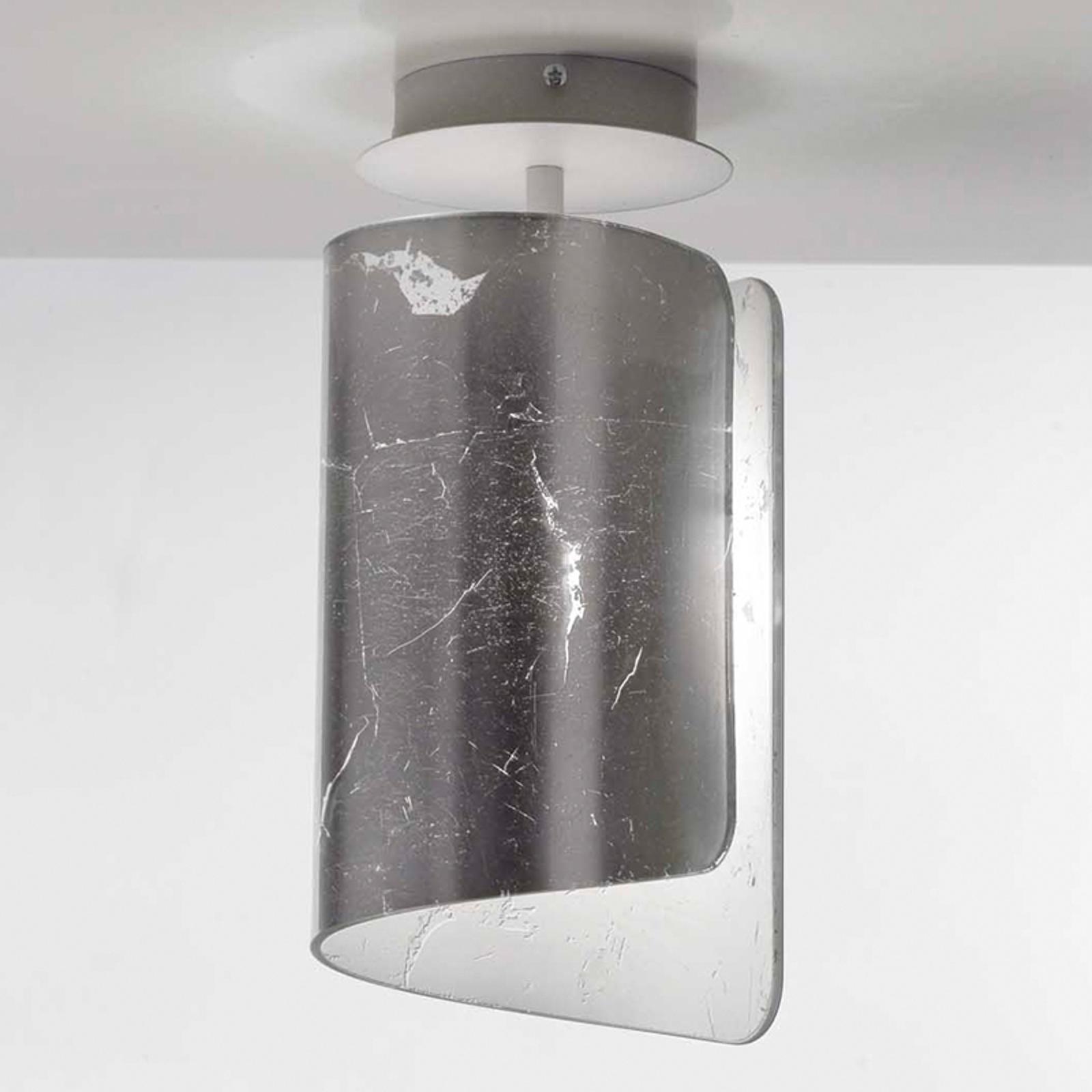 Bajeczna lampa sufitowa Papiro srebrna
