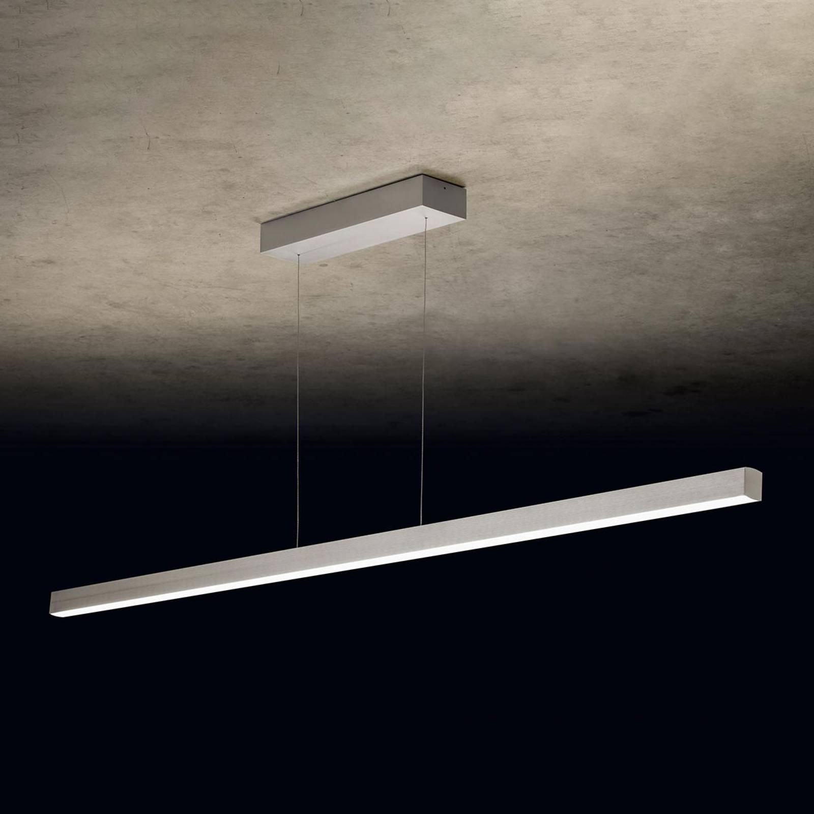 Holtkötter Xena L LED-Hängeleuchte, 160 cm, silber