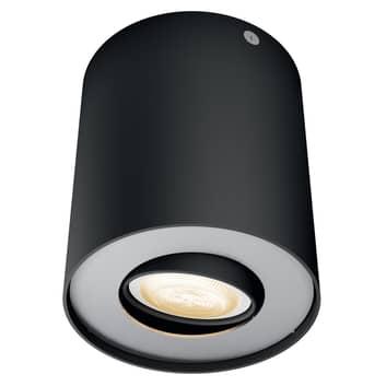 Philips Hue White Ambiance Pillar foco LED negro