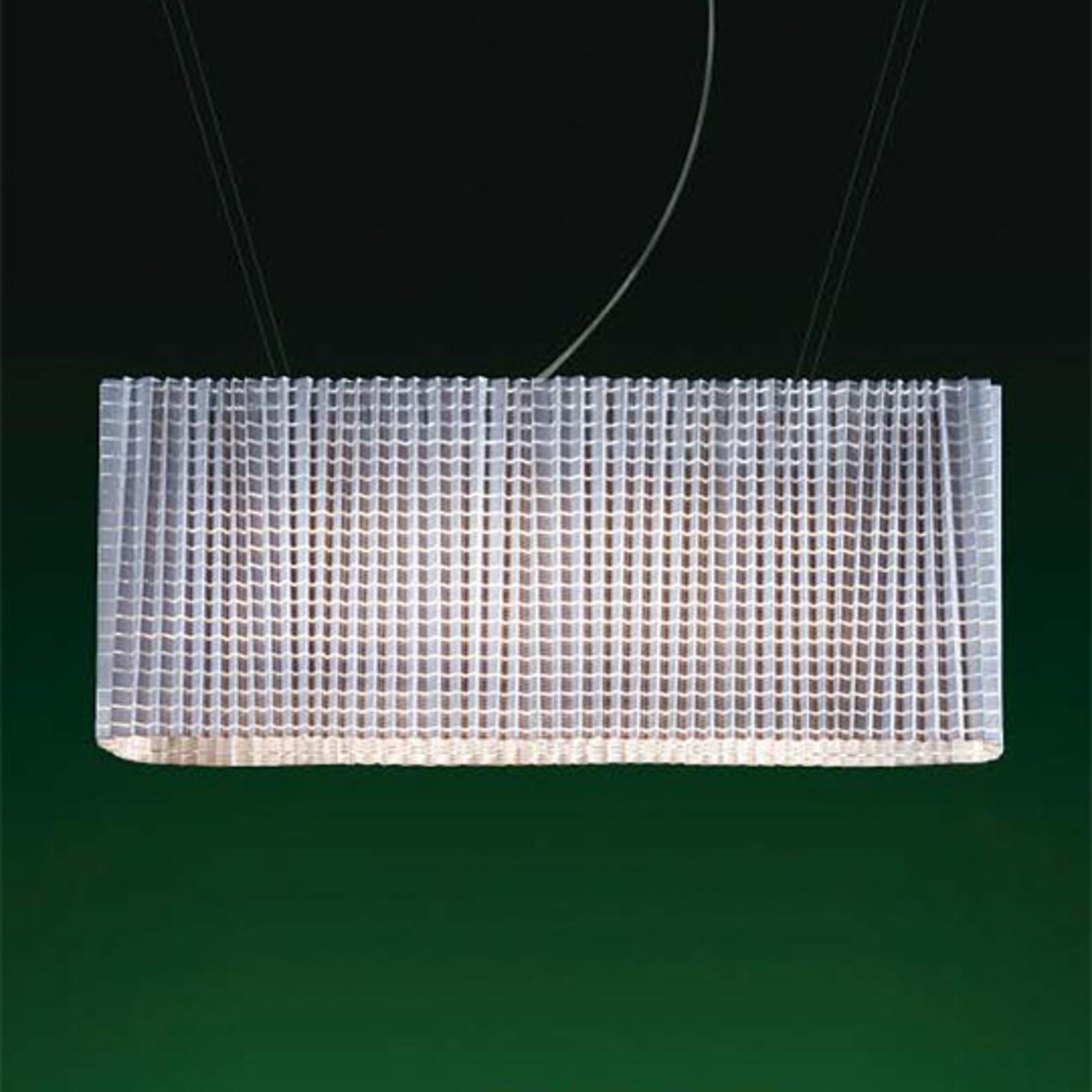 Regulowana designerska lampa wisząca Plissé, biała
