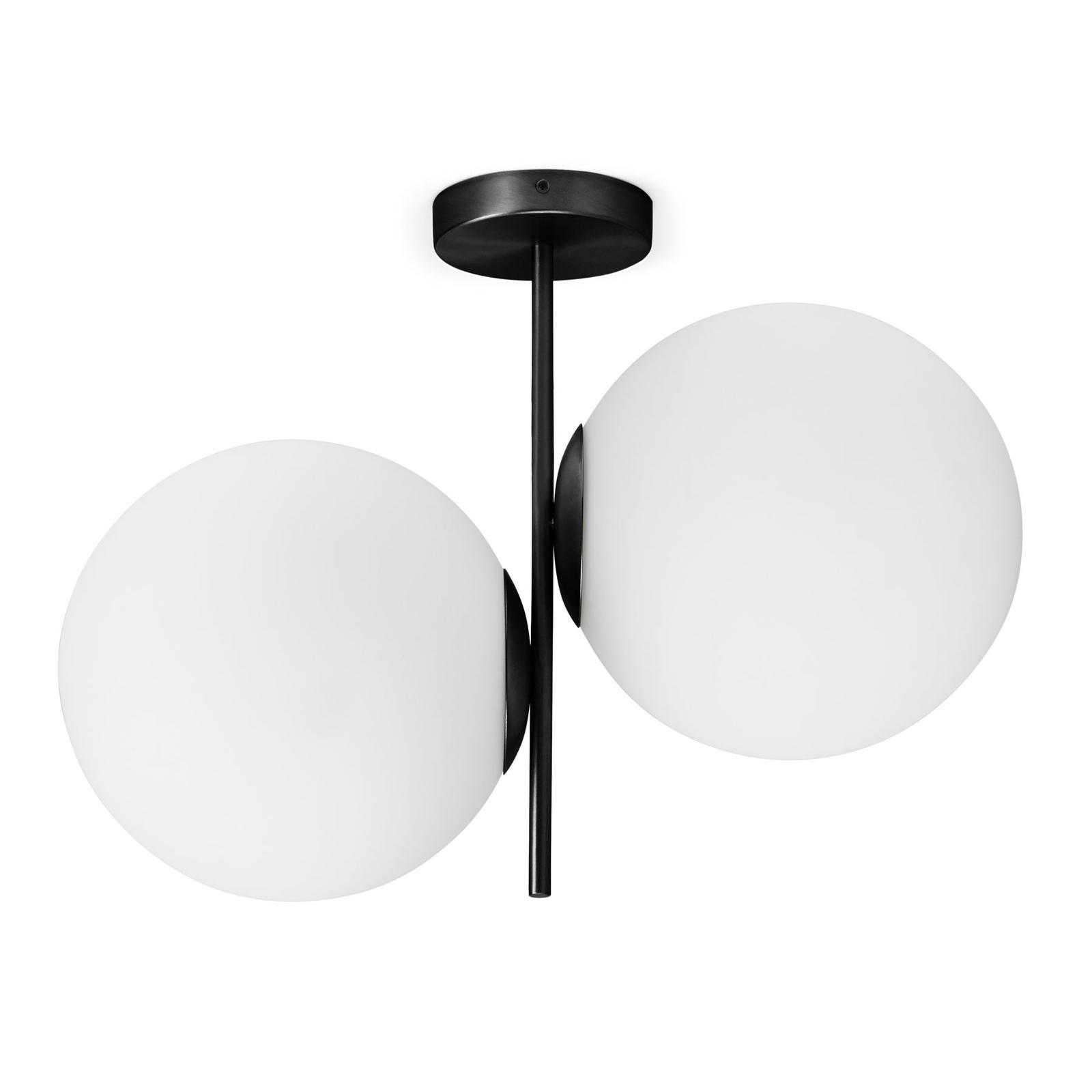 Jugen loftlampe, sort, 2 lyskilder, lodret