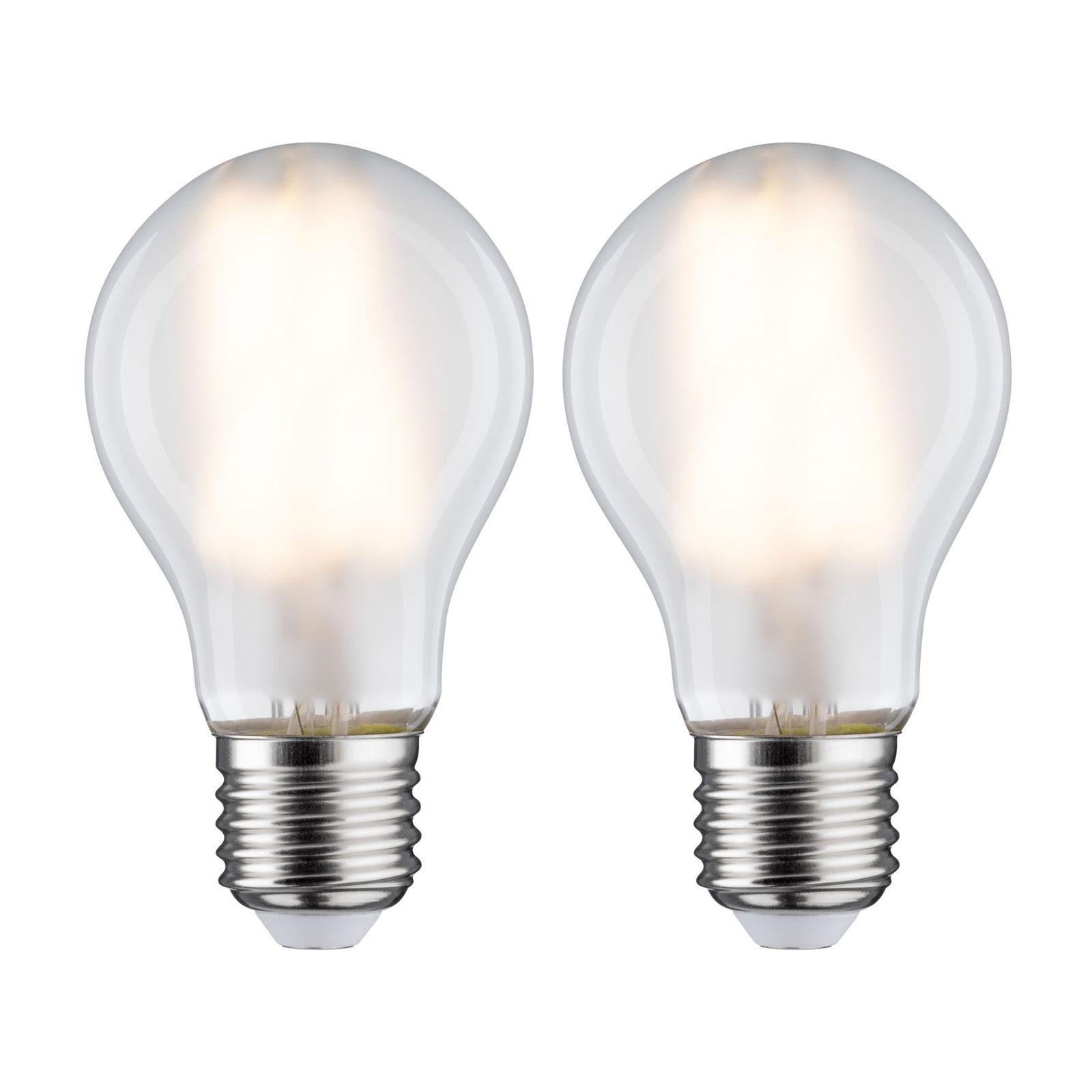 Ampoule LED E27 7W 2700K mate lot de 2