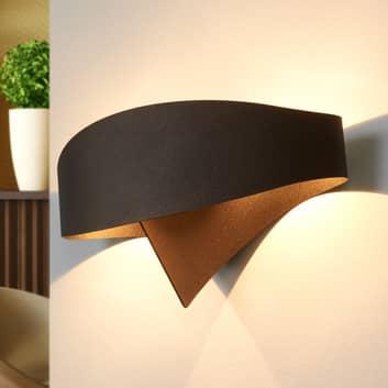 Brązowa designerska lampa ścienna Scudo