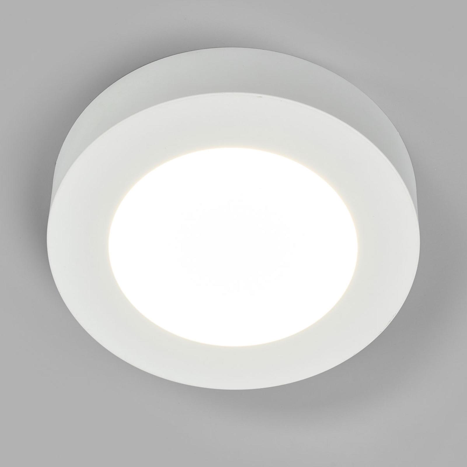 Plafonnier LED Marlo blanc 4000K rond 18,2cm