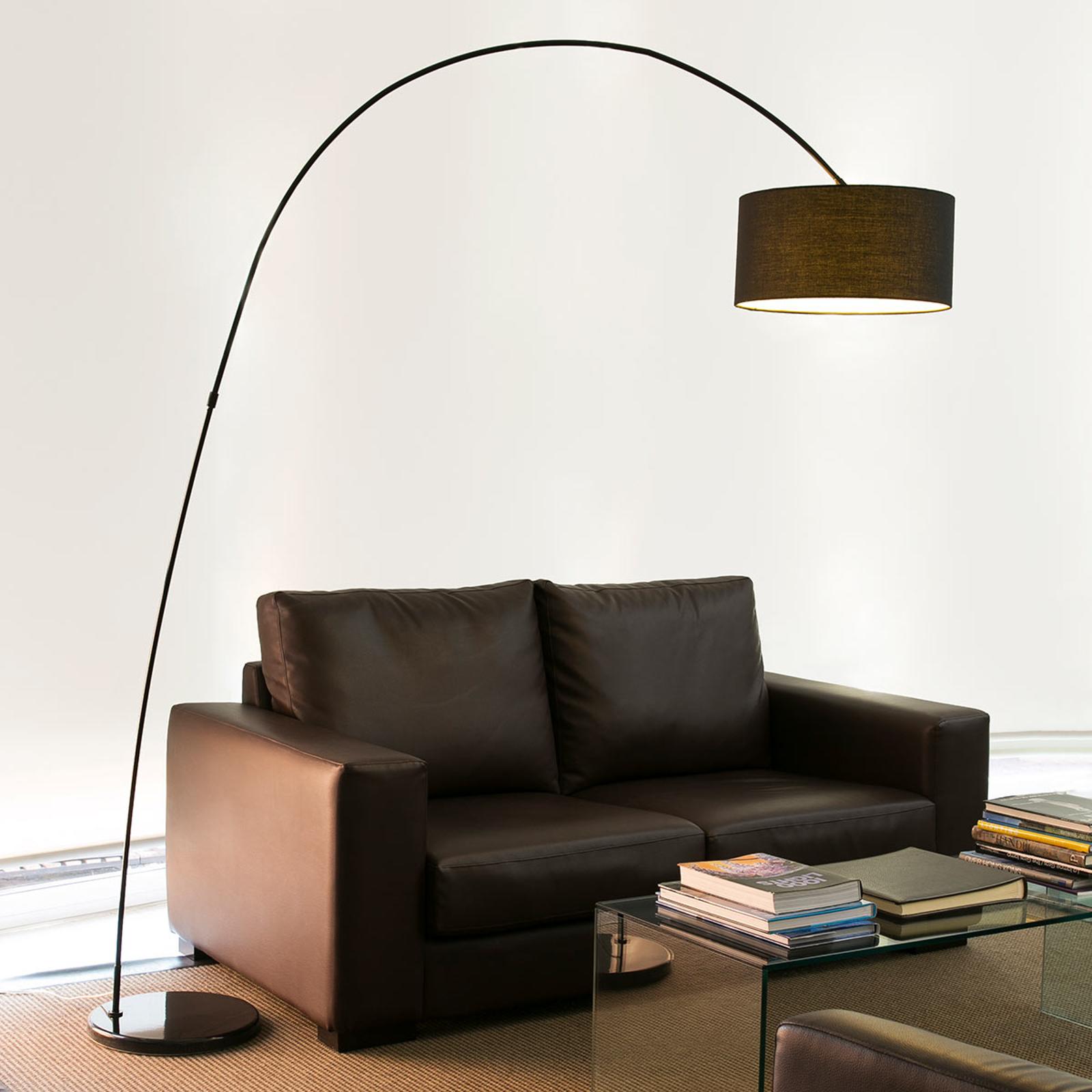 Decoratieve booglamp PAPUA, zwart
