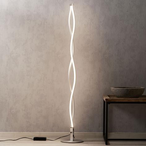 Lampada LED da terra Sahara, design ondulato