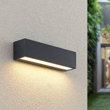Lucande Lengo applique LED, 25 cm, grafite, 1 luce