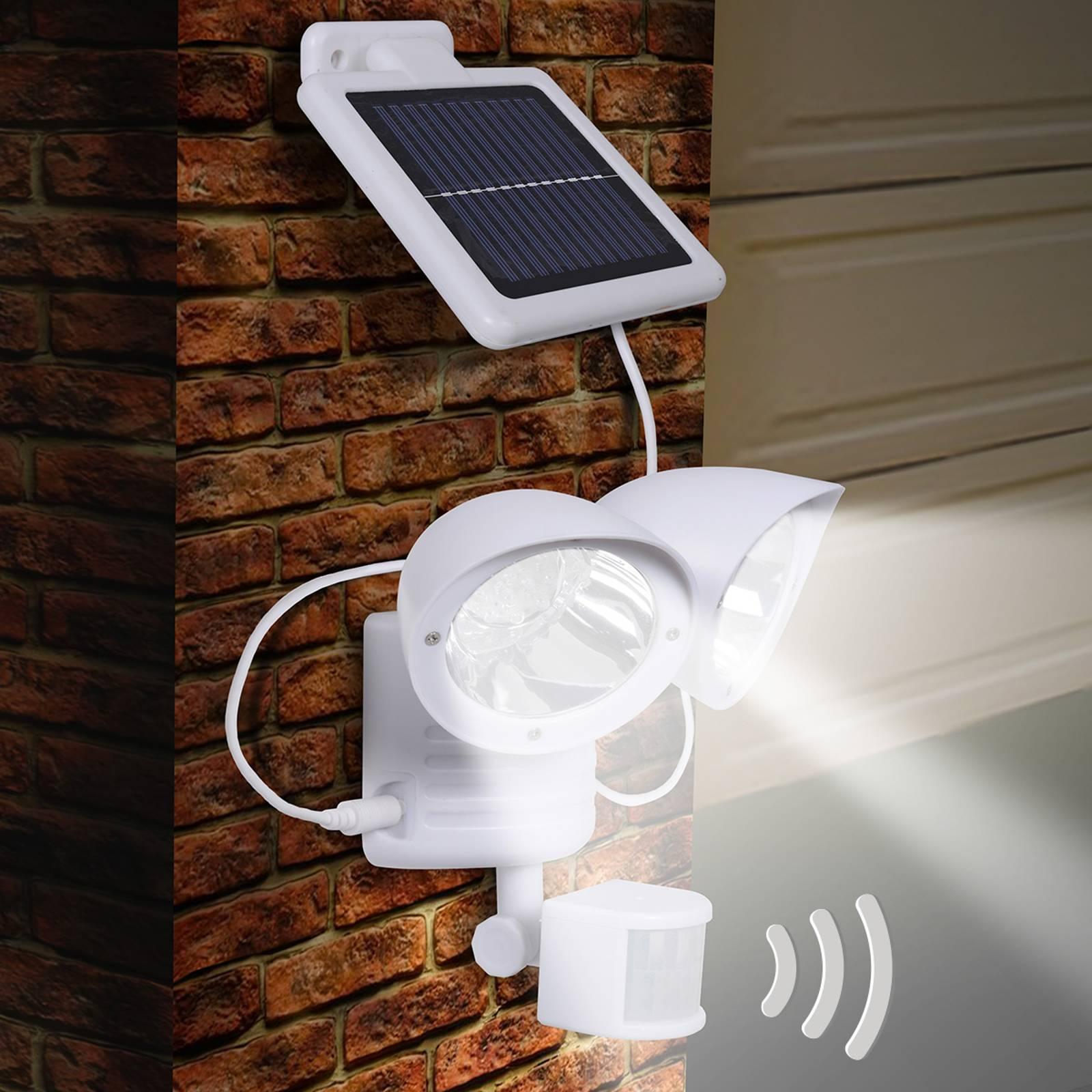 Maex – lampa solarna na ścianę, 2-punktowa