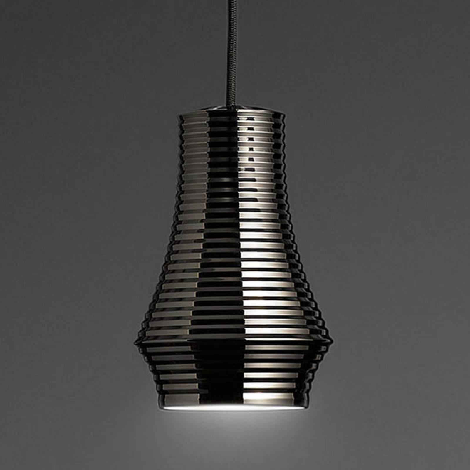 Bover Tibeta 01 - suspension LED, noire chromée