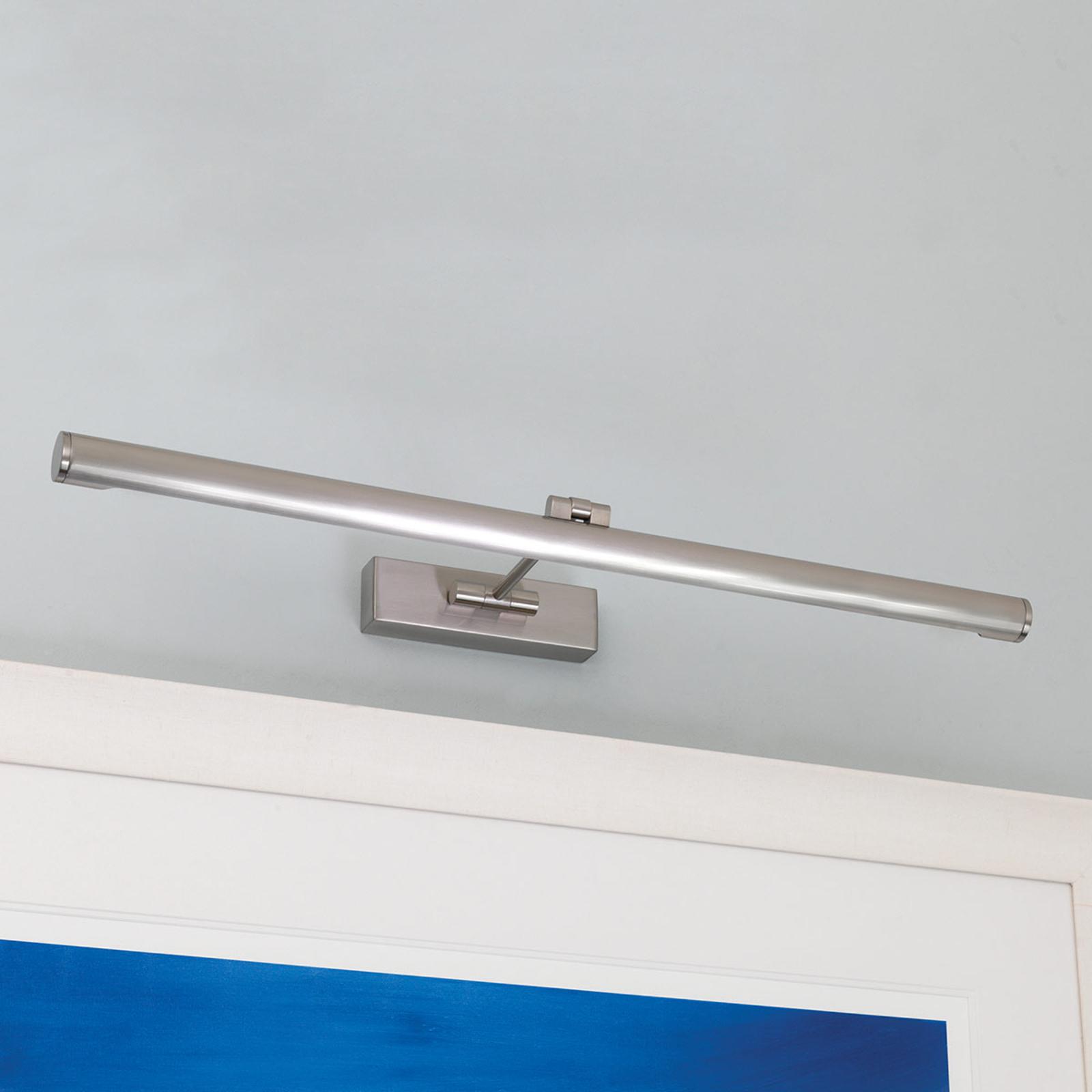 Piękna lampa do obrazów LED GOYA 760, nikiel
