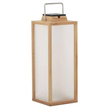 Lanterne solaire LED Tradition en teck