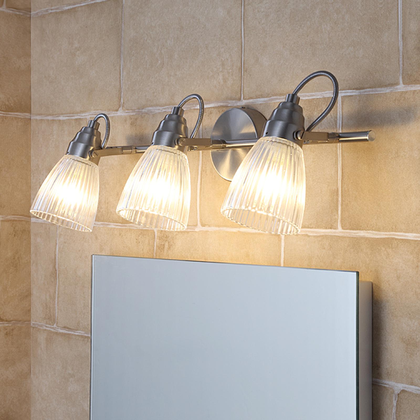 Badrumsväggspot Kara med G9-LED, 3 lampor