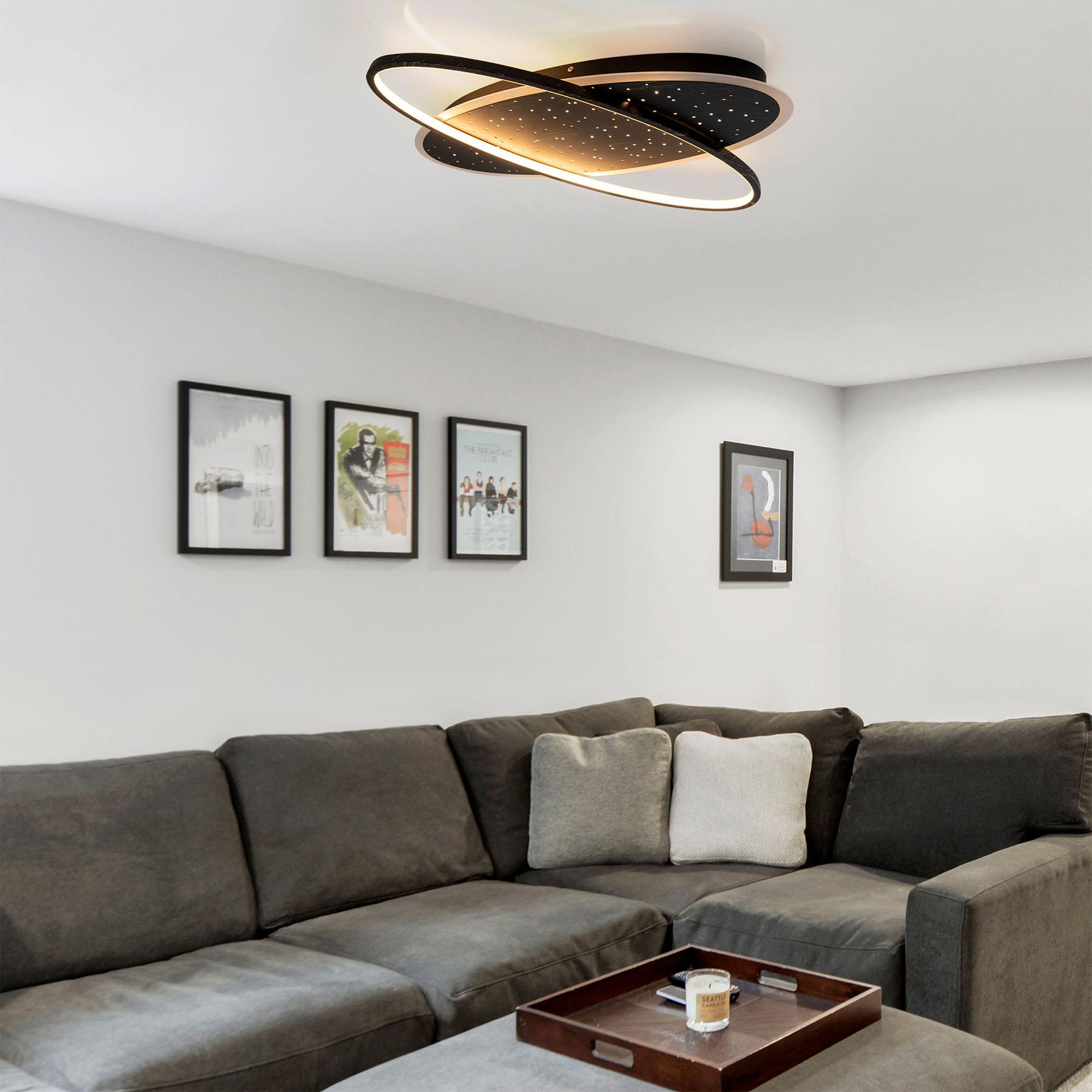 Lampa sufitowa LED Venus, rozgwieżdżone niebo