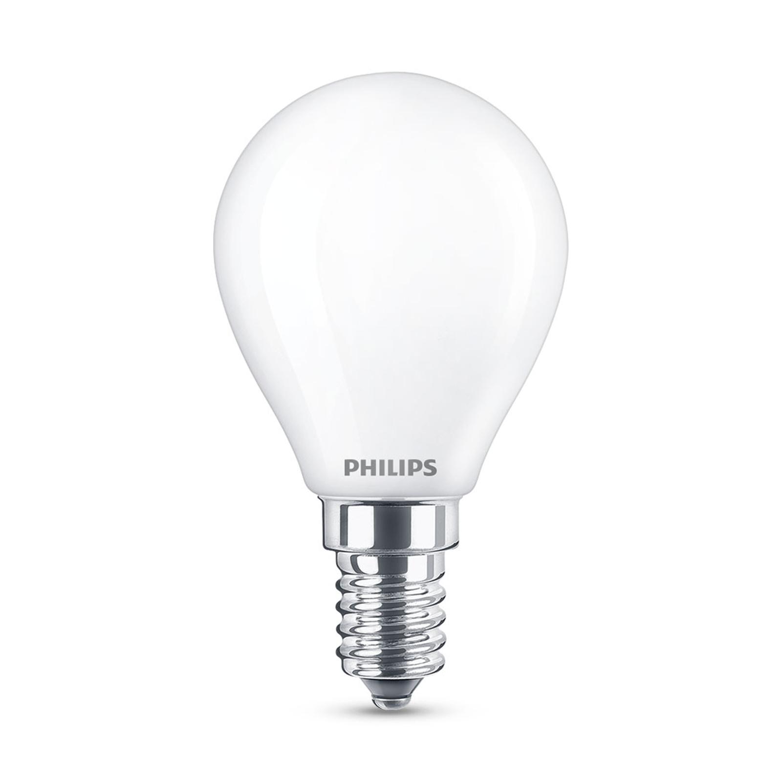 Philips Classic LED-pære E14 P45 6,5W matt 4000K
