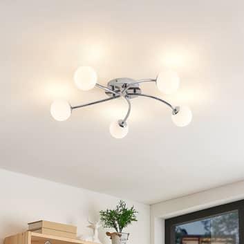 Lindby Chrissy stropní světlo, pětižárovkové, 59cm