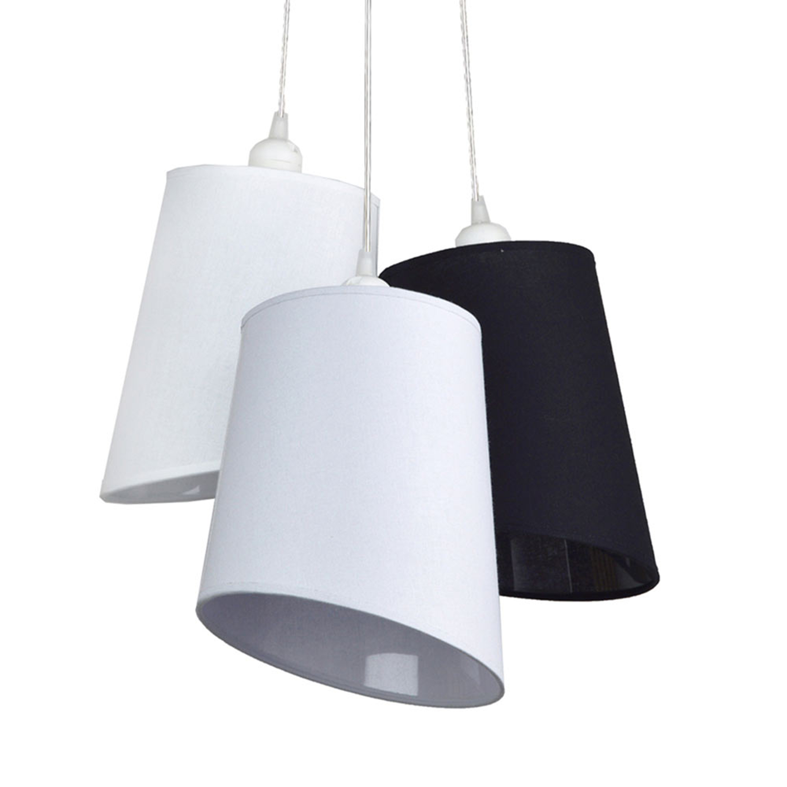 Suspension Verona 3 lampes blanc/gris/anthracite