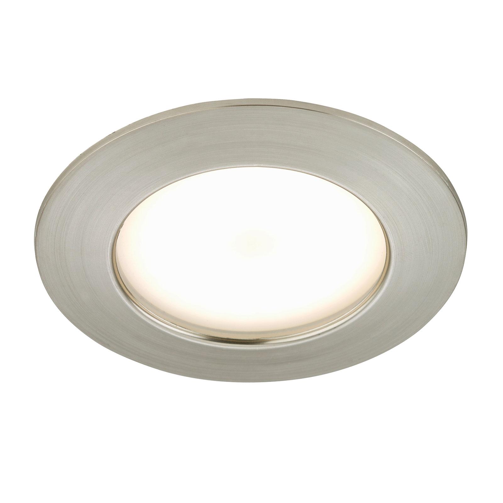 Spot encastré LED Carl pour l'ext., nickel mat