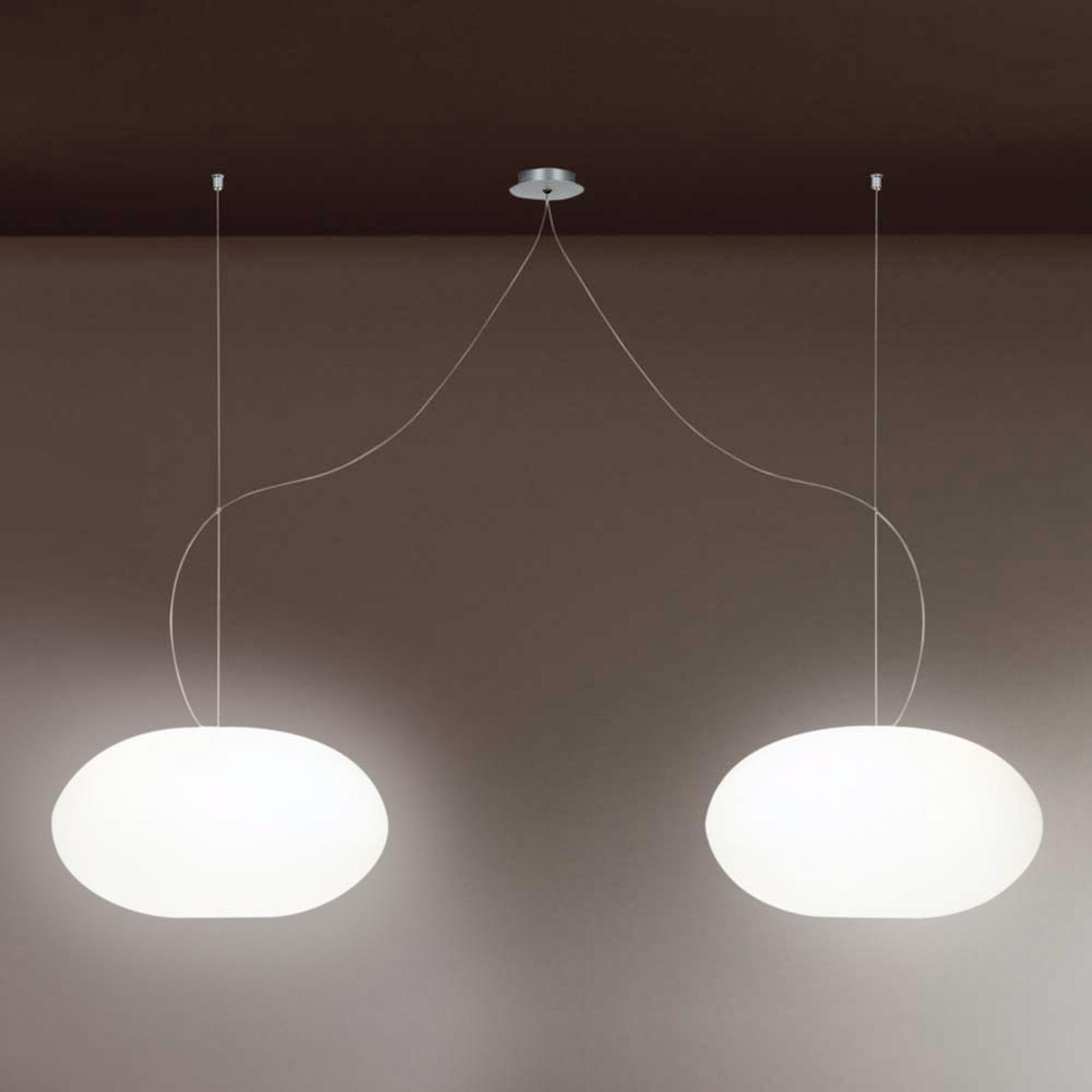 Designerska lampa wisząca AIH 28cm biała błysk