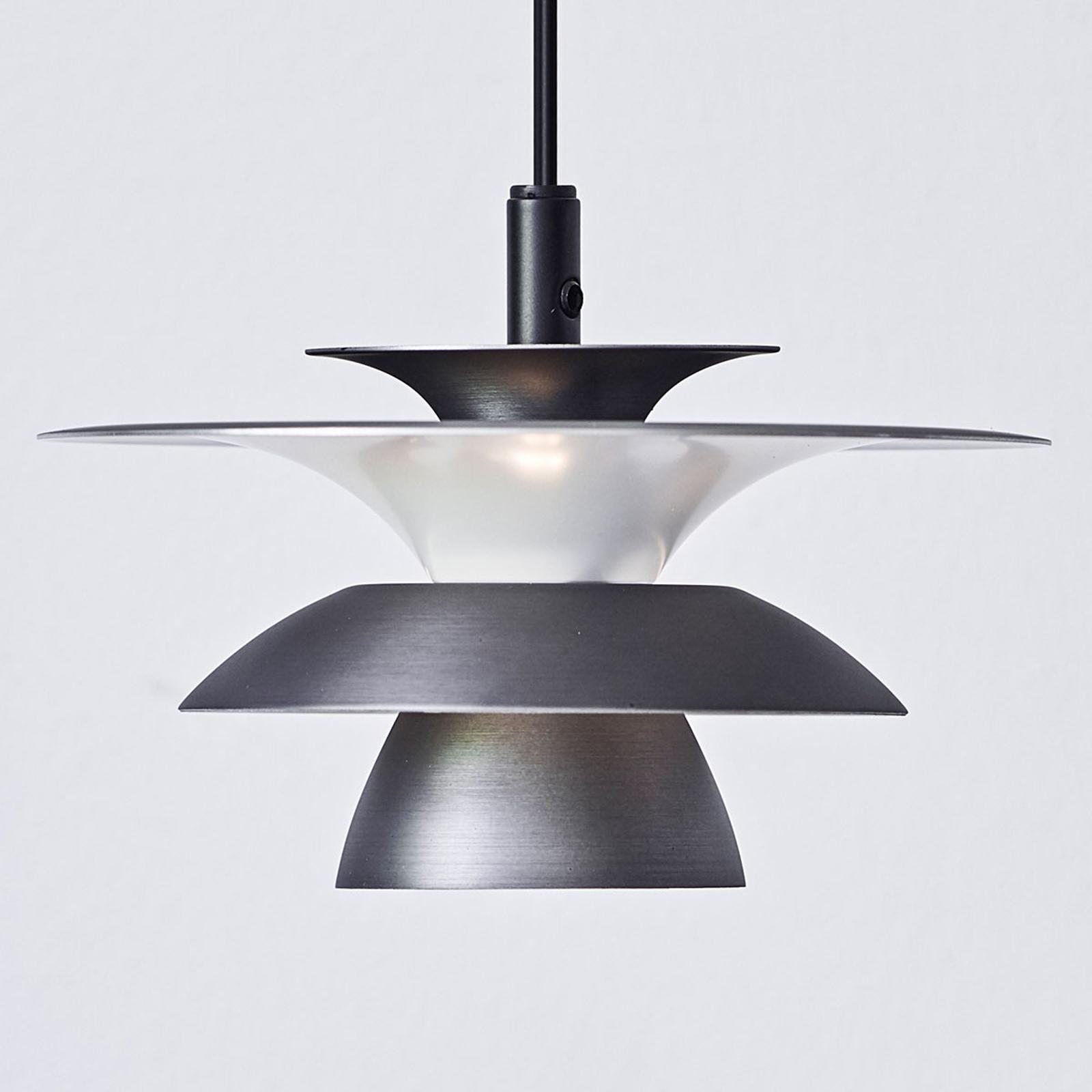 LED hanglamp Picasso 1-lamp, Ø 18 cm, oxide grijs