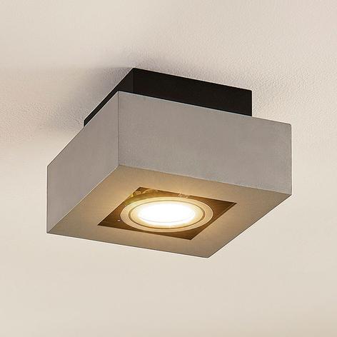 Hliníkové LED stropní světlo Vince, stříbrně šedé