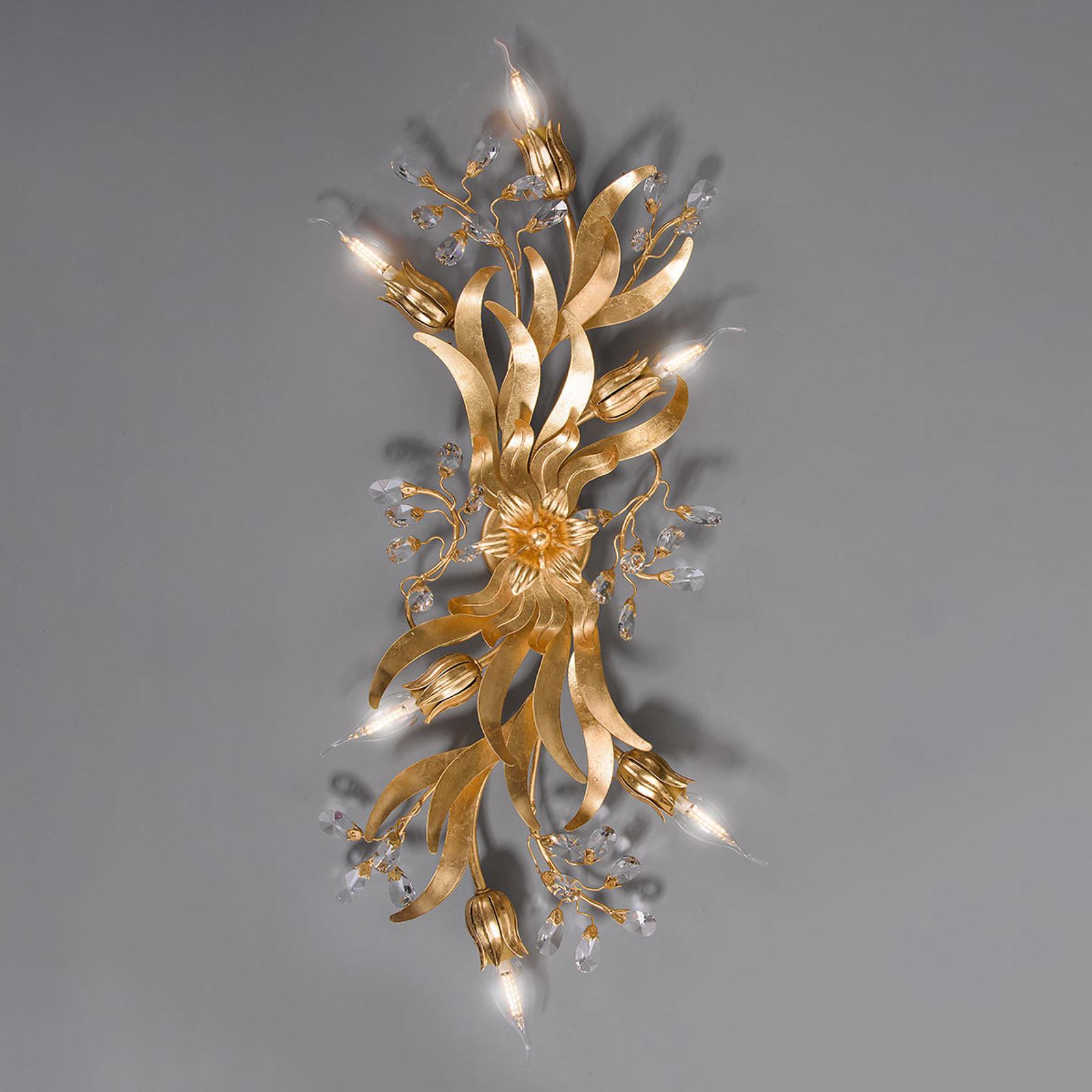 Plafondlamp 77/6 PL, 6-lamps met bladgoud