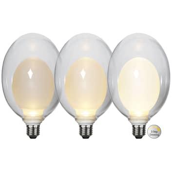 Space E27 D120 LED-pære 3,5 W, opal, 3-trins dæmp.