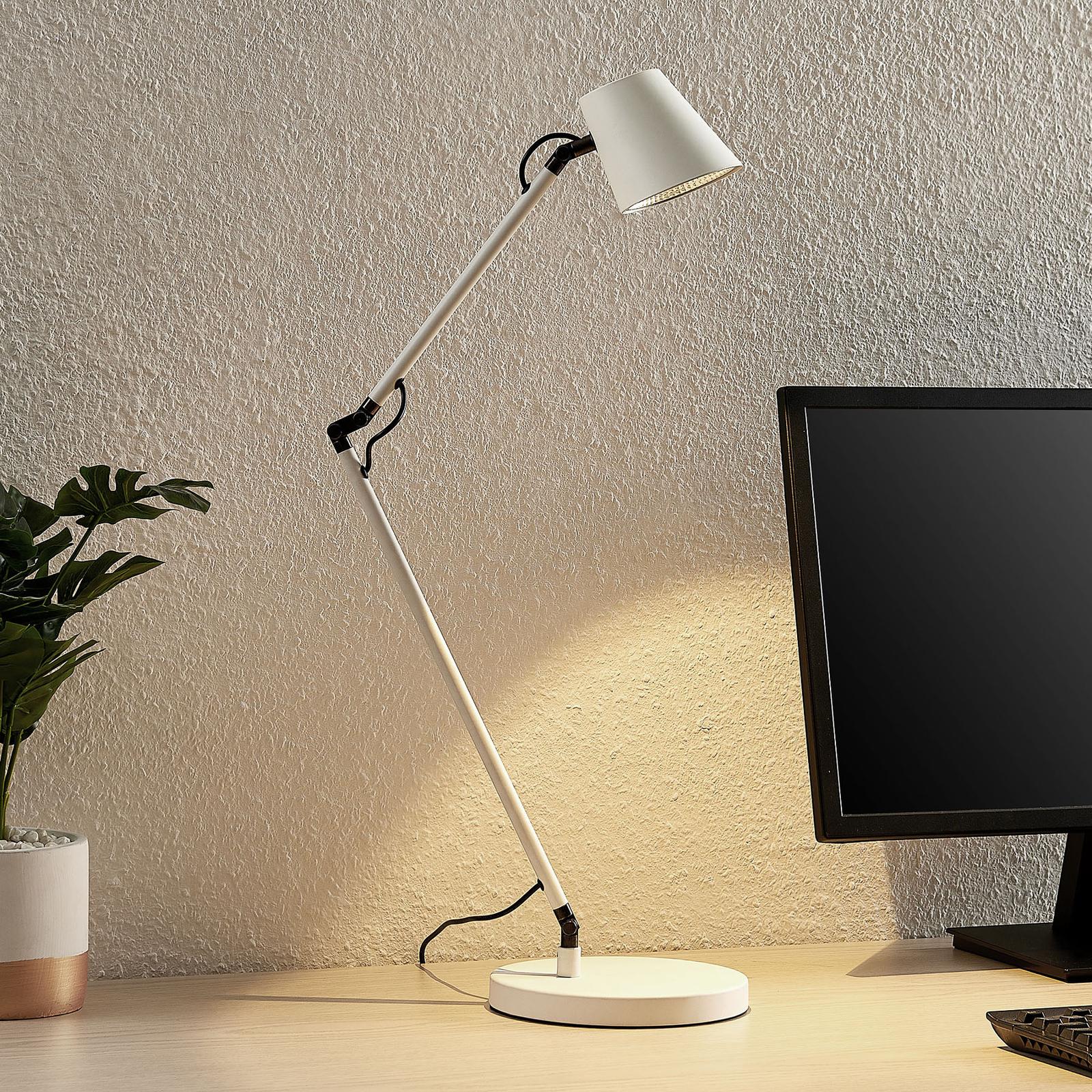 Lucande Tarris LED-Tischlampe, weiß
