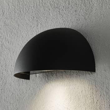 Außenwandlampe Atina, halbrund, dunkelgrau