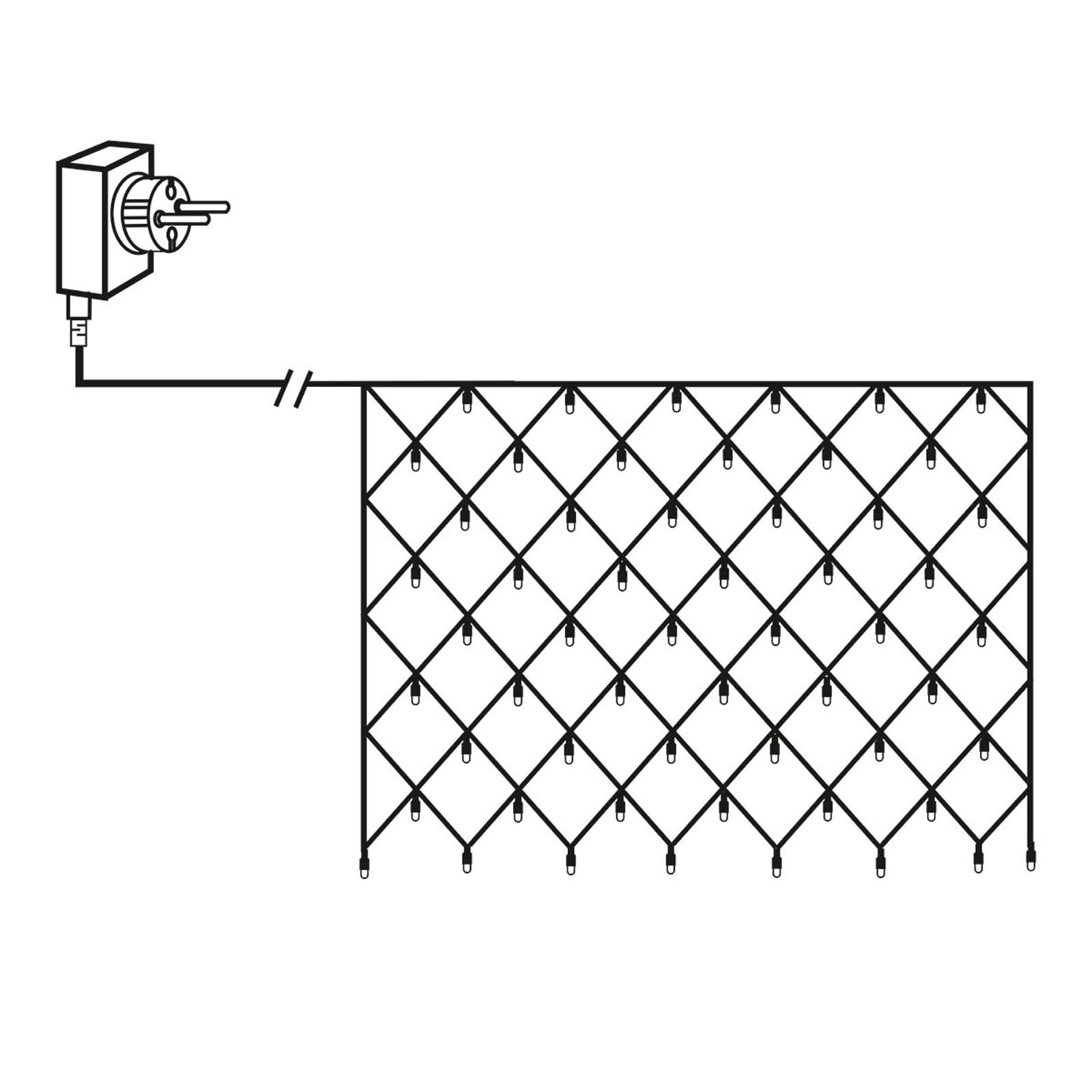 LED-lysforheng Net 2 x 1 m