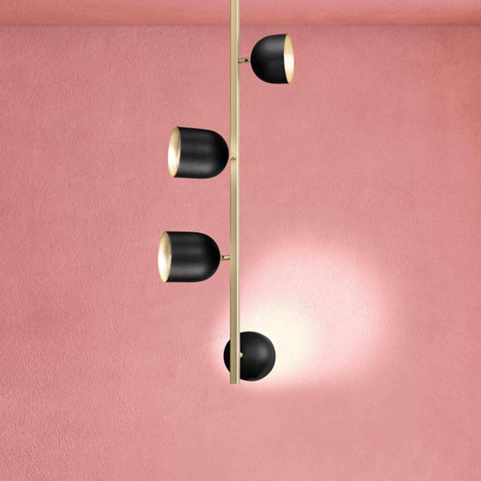 LED-Deckenleuchte Dome, senkrecht, 103cm, schwarz