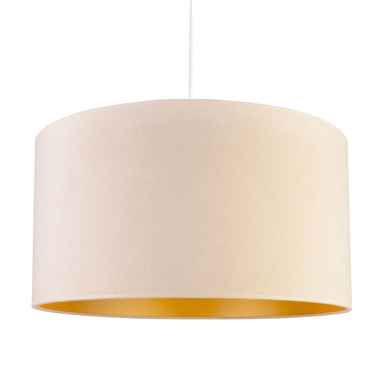 Lampa wisząca Roller, biała/złota