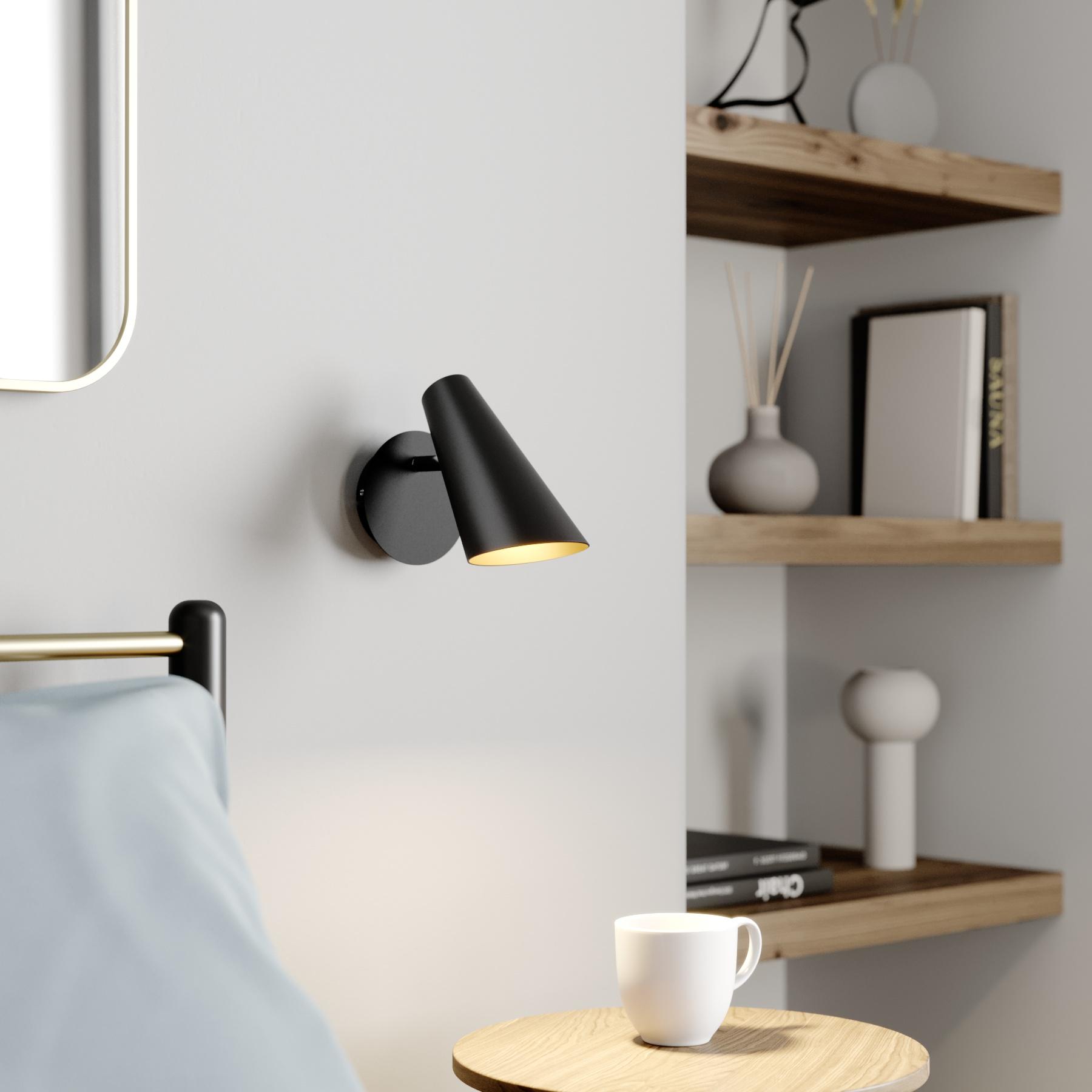 Lucande Wibke wandlamp in het zwart